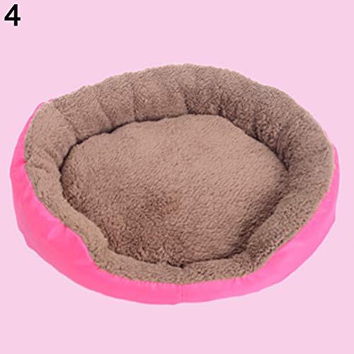 AchidistviQ Haustierbett, für den Winter, warm, Weiches Fleece, für Hunde und Katzen, groß, Rose, M -