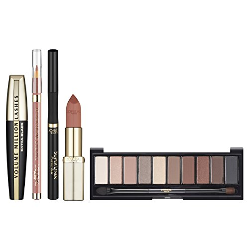 L'Oreal Cosmetics Kristina Bazan Full Box Kit Contains Eyeshadow Palette, Lipstick and Lipliner, Mascara and Eye liner