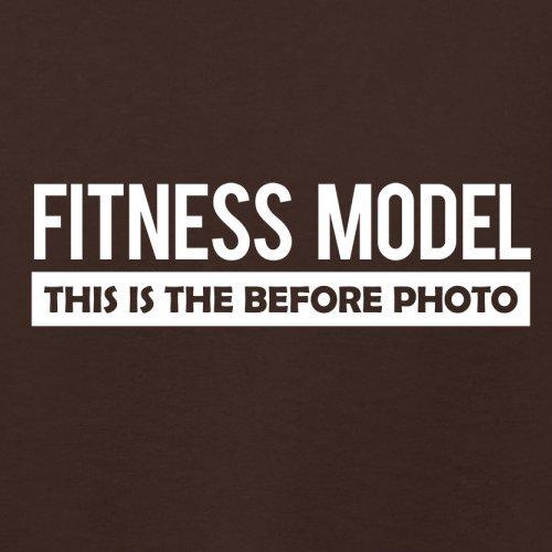 Fitness Model Before Photo - Damen T-Shirt - 14 Farben Dunkles Schokobraun