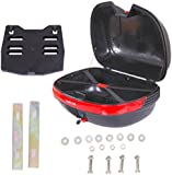 Homcom 44L Motorcycle Scooter Top Box Case Topbox Motorcycle Back Case Rear Luggage Storage Universal