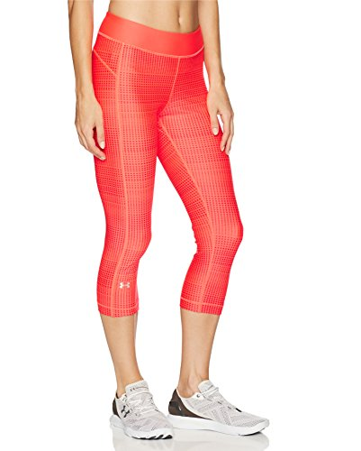 Under Armour Damen UA HG Printed Capri, Marathon Red, M