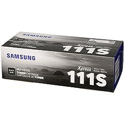 Samsung MLT-D111S tóner y cartucho láser - Tóner para impresoras láser (1000 páginas, Laser, M2020/2020W, M2022/2022W, M2070/2070W, 32,6 cm, 15,8 cm, 10,8 cm), color negro