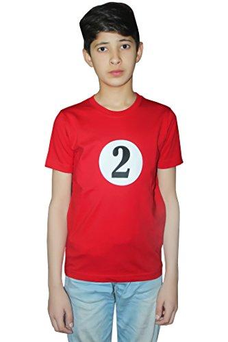 Momo&Ayat Fashions Kids Boys Girls Thing Red Turquoise Theme 1 & 2 Book Week Costume- Pick & Mix (Number 2 T-Shirt - Red, Age -5-6 Years) (1 2 Ding Ding Shirts)