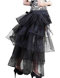 29fbf425ce5 Falda Tul Mujer Tutu Años 50 Vintage Irregular Ballet Enaguas Gothic  Steampunk Moda Ropa Danza Fiesta
