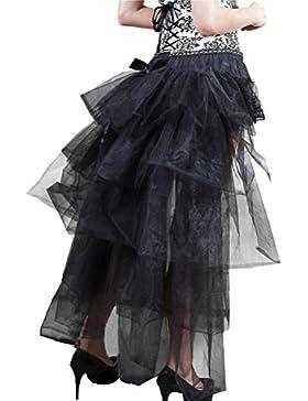 Falda Tul Mujer Tutu Años 50 Vintage Irregular Ballet Enaguas Gothic Steampunk Moda Ropa Danza Fiesta Petticoat...
