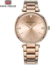 Fashion Watches Mini Focus/Moda Mujer Reloj de Cuarzo Reloj de muñeca con Bisel de