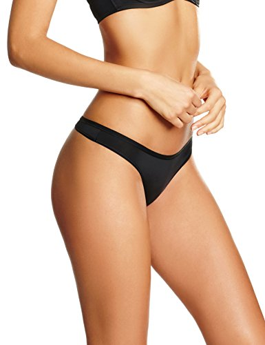 Iris & Lilly Damen Taillenslip Body Smooth, 5er Pack, Schwarz, Medium