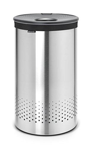 Brabantia Matt Steel (Brabantia 105166 Wäschebox 60 L Kunststoffdeckel Dark Grey, matt steel)