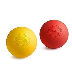 MARNUR Massageball Faszien Lacross Ball Set zur Training Fitness Nacken Schulter Rücken Fuß Selbstmassage von Triggerpunkten