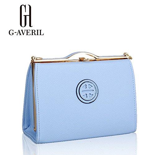 (G-AVERIL) Moda spalla sacchetto impermeabile borsetta di pelle sintetica blu