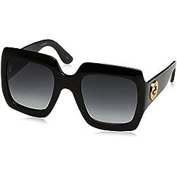 Gucci GG0053S, Gafas de Sol para Mujer, Negro (Black-Grey), 54