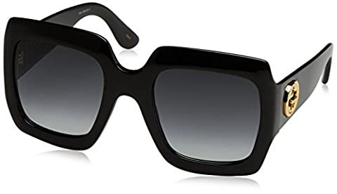 Gucci - GG0053S, Oversize, acetate, women, BLACK/GREY SHADED(001 A), 54/25/0
