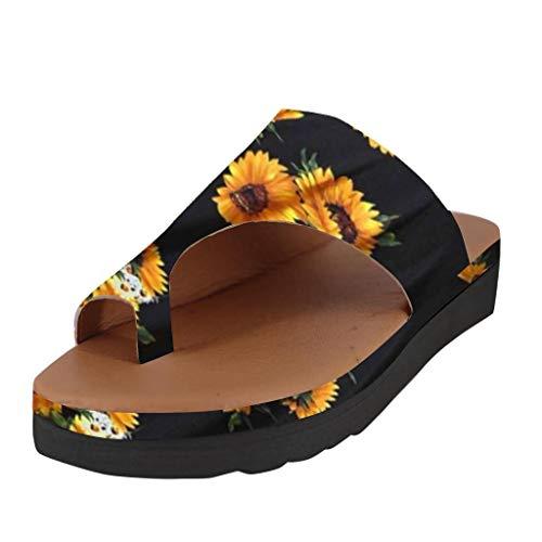 in Vendita! Scarpe da Donna con Zeppa Pantofole Pantofole con Punta Aperta Scarpe da Spiaggia alla Caviglia Moda Pantofole Romane Sandali di Kinlene