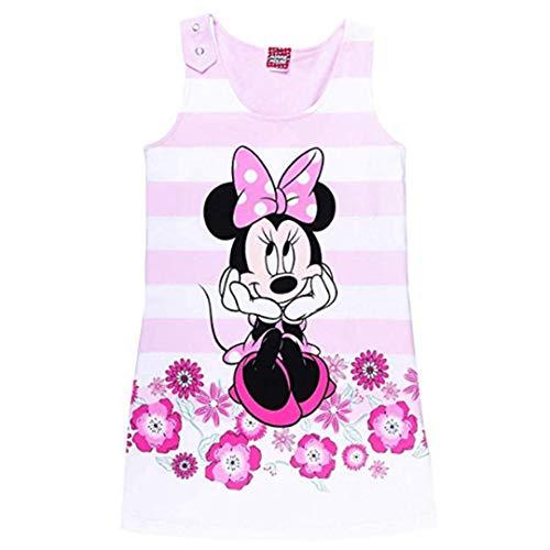 Disney Mädchen Minnie Mouse Kleid, rosa, pink, Größe 104, 4 ()