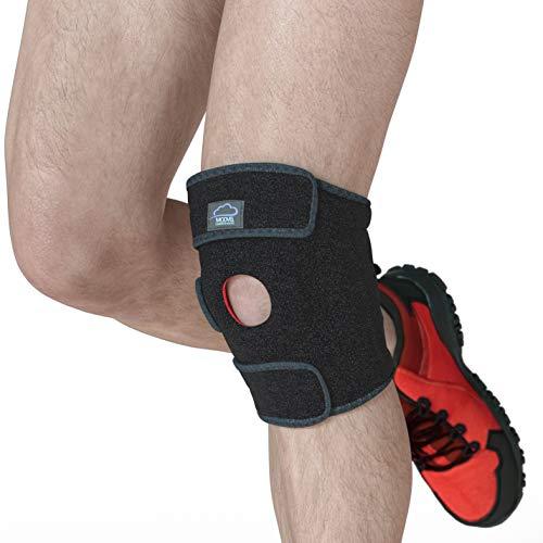 Modvel Medizinische Geräte & Schienen - Knie, Premium Kniebandage - Flexibles Neopren Knieschutzhülle, Atmungsaktives Unisex Knie Kompressions für Rennen, Sport etc. Fördert Schmerzlinderung (MV-105)