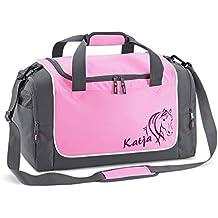 Reittasche in rosa für Mädchen mit Name bedruckt Quadra Sporttasche pink Schulanfang