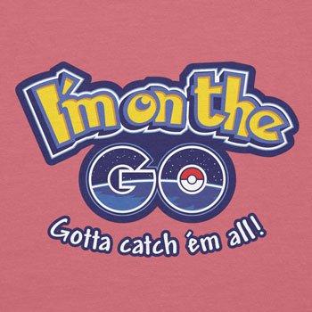 Planet Nerd - I'm on the GO - Damen T-Shirt Rosa