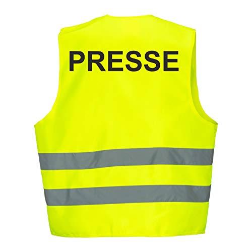 Warnweste GELB Sicherheitsweste Weste Ordner Security Crew (Presse 1 Weste)