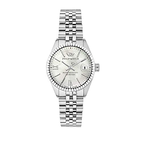 Philip Watch Women's Watch, Caribe Collection, Quartz Movement and Three Hands Version with Date, Equipped with a Stainless Steel Bracelet - R8253597541