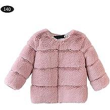 2e23621f441e Fancylande Manteau Fausse Fourrure Enfant, Veste Enfant Vêtements d hiver  pour Enfants Fausse Fourrure