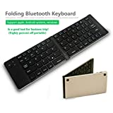 Stylebeats Bluetooth Keyboard Folding Type Internal Battery USB Charging Ultra Thin Aluminum Alloy Keyboard Compatible With Xiaomi Mi, Lenovo, Apple, Samsung, Sony, Oppo, Vivo And ALL Other Smartphones. A Portable Mini Bluetooth Foldable Keyboard With USB