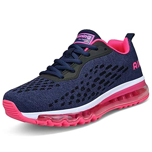 HMIYA Scarpe da Ginnastica Donna Uomo Scarpe da Corsa Scarpe da Ginnastica Fitness Sneakers Trainer per Running Outdoor, (Lila Pink-b), 39 EU