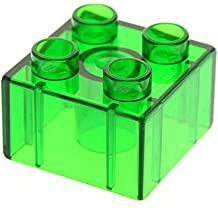 LEGO Duplo 2 Stück dunkel blaugrau # 3437 Stein // Brick 2 x 2