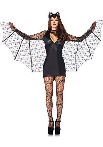 Leg Avenue - Costume da Pipistrello, Donna, Colore: Nero, Taglia: S