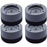 SEISSO Patin Anti Vibration Machine à Laver 4PCS Universel Pieds Stabilisateur Piédestal pour Lave-Linge Réfrigérateur Access