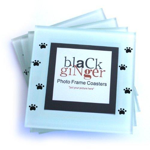 Set von 4personalisierbar Glas mit hundemotiv Untersetzer mit Platz für Fotos von Haustieren