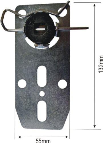 Universal Motorlager für Rohrmotoren mit 10 mm Vierkant, ca. 2 mm stark, höhenverstellbar mit Sicherungsclip (1 ST) (Motorlager)