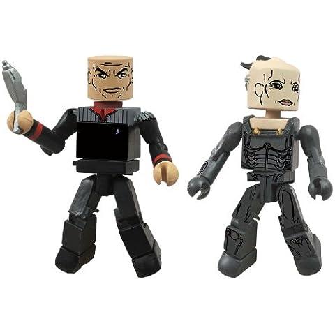 Star Trek Legacy Minimates Series 1 - Figuras de Picard y la reina Borg