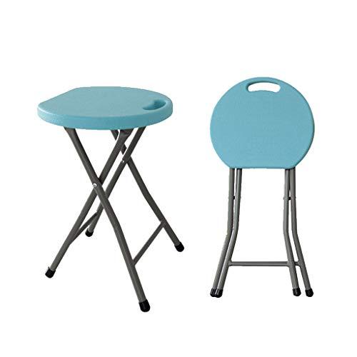 WEIFAN-Furniture Klapphocker Klappstuhl Hocker Kunststoff Geeignet für Outdoor Camping Wohnzimmer Esszimmer Schlafzimmer Ankleidezimmer/Entfalten 45 × 33 × 3,5 cm (Hellblau) -