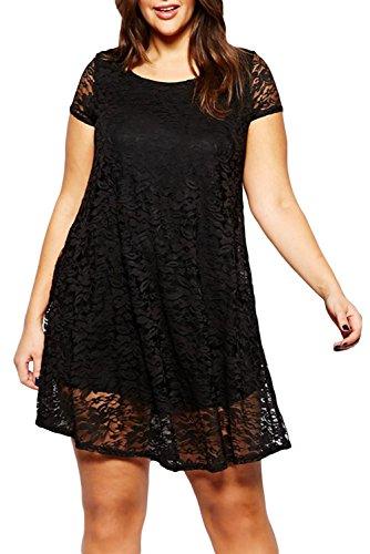 E-Girl femme Noir SY21738XXL mini robe Noir