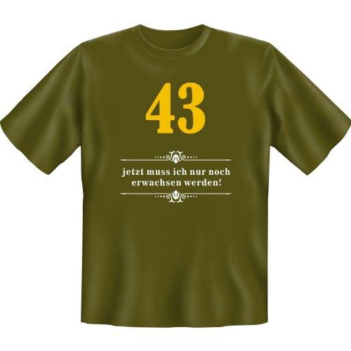 43 - jetzt muss ich nur noch erwachsen werden! Farbe: khaki Khaki