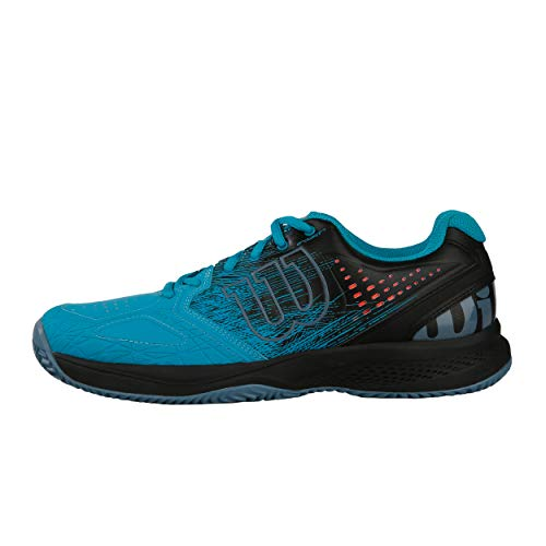 Wilson Kaos Comp 2.0 - Scarpe da Tennis Uomo, Blu (Capri Breeze/Black/Bluestone Capri Breeze/Black/Bluestone), 42 2/3 EU