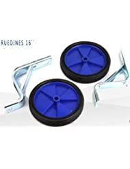 Juego de ruedines estabiciclos rueditas laterales bici bicicleta (Azul)
