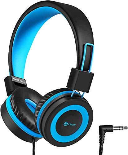 Kinder Kopfhörer - Kabel Kopfhörer für Kinder, verstellbares Stirnband, Stereo Sound, Faltbare, entwirrte Drähte, 3,5 mm Aux Jack, 85dB Volume Limited - Kinder Kopfhörer auf Ohr