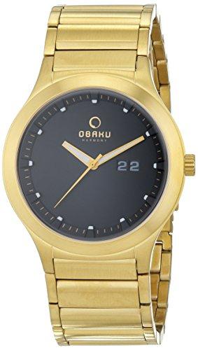 Obaku V115GGBSG - Reloj de pulsera hombre, Acero inoxidable, color dorado