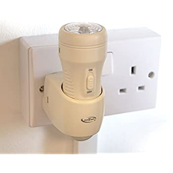 """*NEW* 3-in-1 Rechargeable Torch, Automatic Night Light & Emergency Power Cut Light. As seen on BBC's """"Dragons Den"""""""