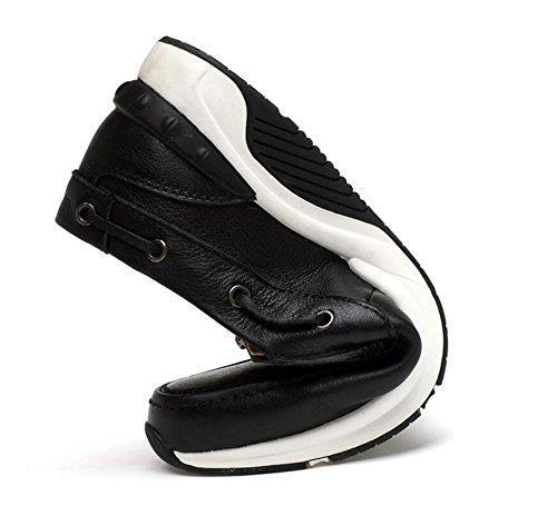 Scarpe Skateboard Oxford Boutique Slip-On Scarpe Casual Scarpe Pelle Cuoio Morbido All'interno Di Scarpe Comode Scarpe Black