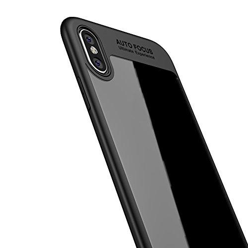 Preisvergleich Produktbild KISSION iPhone Hülle,  Super Slim TPU Phone Case for iPhone X (schwarz)