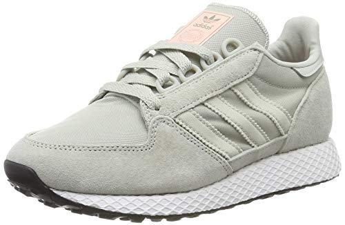 adidas Damen Forest Grove W Gymnastikschuhe, Silber (Ash Silver/Clear Orange), 38 2/3 EU(5.5UK)