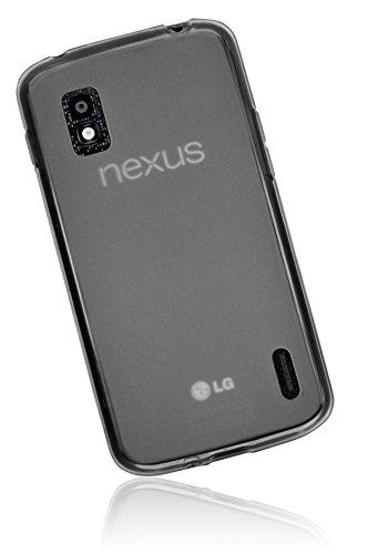 mumbi TPU Schutzhülle für Google Nexus 4 Hülle transparent schwarz