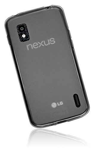 mumbi Hülle kompatibel mit LG Google Nexus 4 Handy Case Handyhülle, transparent schwarz
