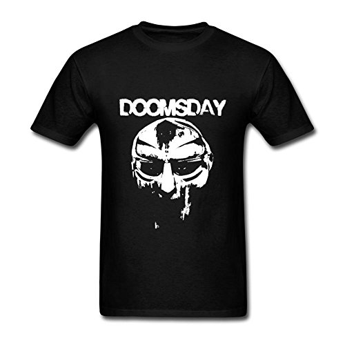 Arnoldo Blacksjd LSSMYZ Customized Crewneck T Shirt for Men 100% Organic Cotton-MF DOOM Doomsday X-Large