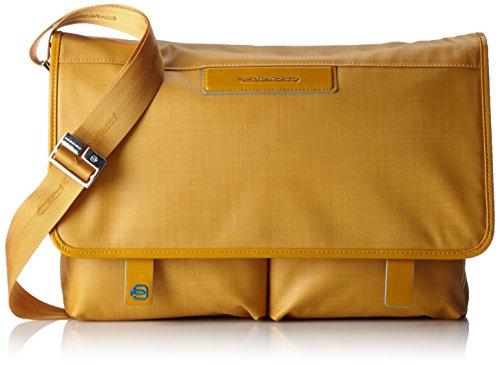 Piquadro Aki Messenger 37 cm Laptopfach Gelb