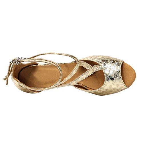 Minitoo - Ballroom donna Gold-7.5cm Heel