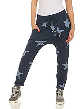 ZARMEXX pantalones de chándal holgados pantalones novio de la mujer de moda pantalones de chándal de algodón pantalones...