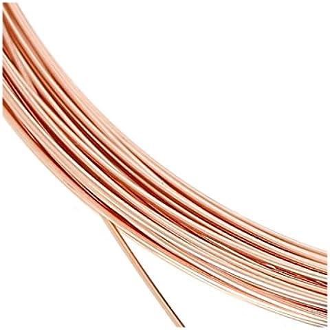 Hilo flexible 0.51 mm de Rosa Gold filled 14K x 1 m